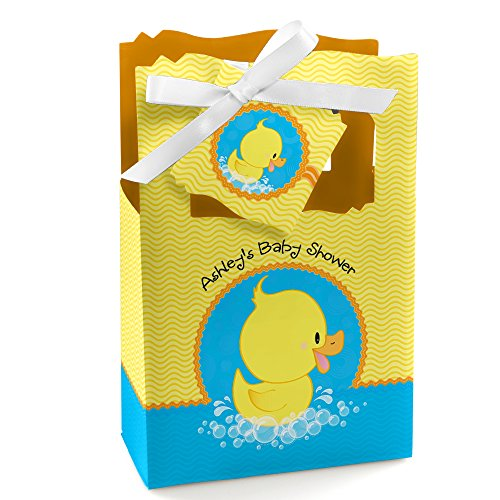Custom Ducky Duck - Personalized Baby Shower or Birthday Party Favor Boxes - Set of 12