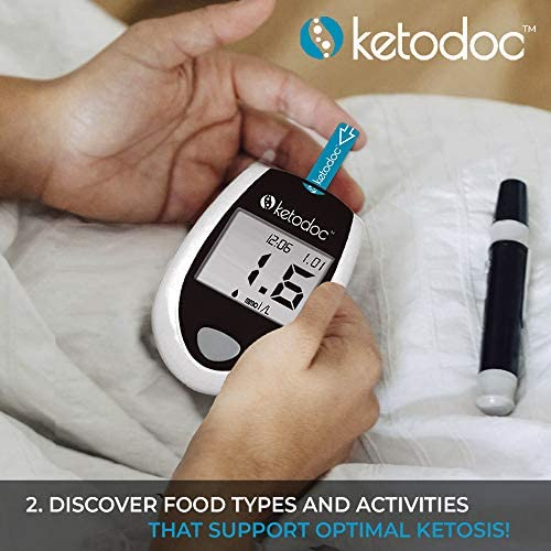 KETODOC Advanced Ketone Blood Meter Testing Kit + 10 Ketone Test Strips - Monitor Your Ketones with Accuracy, Sustain Optimal Ketosis Levels to Super Charge Your Health Goals 3