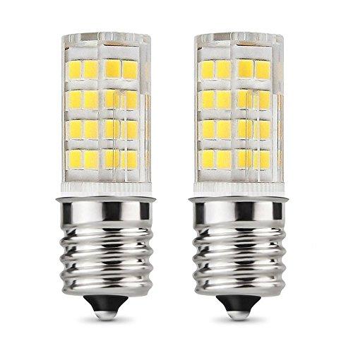 E17 LED Bulb Microwave Oven Light, T7 T8 Intermediate Base LED Appliance Bulb T8 T7 Lightbulb, Warm White 3000K,dimmable, 4W (40W Halogen Bulb Equivalent),110 volt-130v,52x2835SMD (2- Pack)