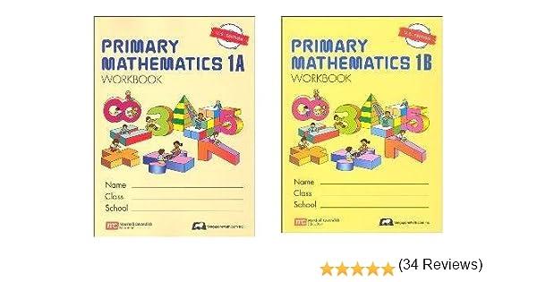 Singapore Primary Math grade 1 WORKBOOK SET--1A and 1B: Amazon.com ...