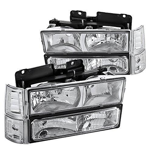 Spec-D Tuning LBCLH-GMC94-SY Chrome Headlight (Euro with Corner Bumper Lights) ()