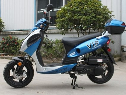 Price comparison product image 150cc Powermax Scooter Moped - Cali Legal - Engine Size 150 cc - Rear Brakes Mechanical Drum Brake By Saferwholesale
