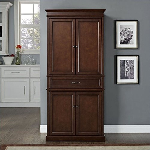 Crosley Furniture Parsons Pantry Cabinet - Vintage - Furniture Domain