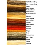 Crepe Wool Hair- Dark Brown Gray Color for Doll Making or Theatrical Uses (False Beard or Mustache)