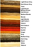 Crepe Wool Hair- Medium Brown Color for Doll Making or Theatrical Uses (False Beard or Mustache)