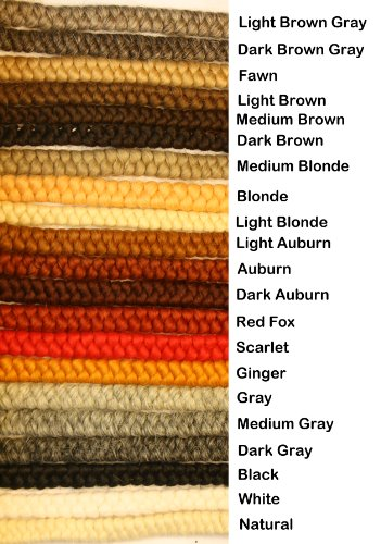 Crepe Wool Hair- Dark Brown Gray Color for Doll Making or Theatrical Uses (False Beard or -