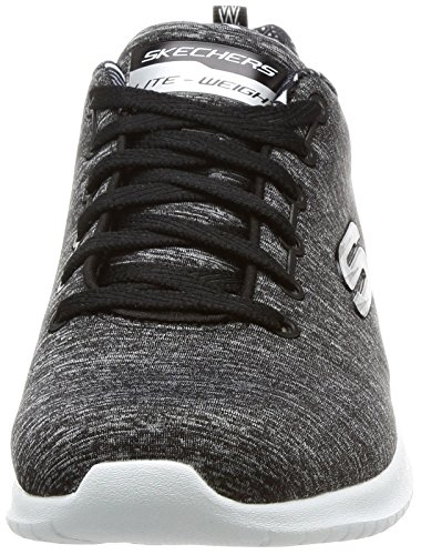 Sneaker black Nero Donna Skechers white 12834 Uq4wTf1