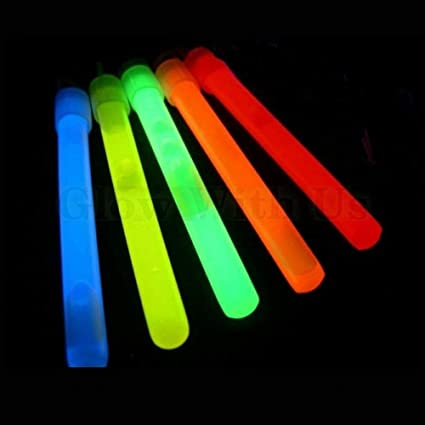 """8"""" Glow Stick Glow In The Dark PINK /& GREEN /& BLUE/& YELLOW WANDS NEW Set//4"""