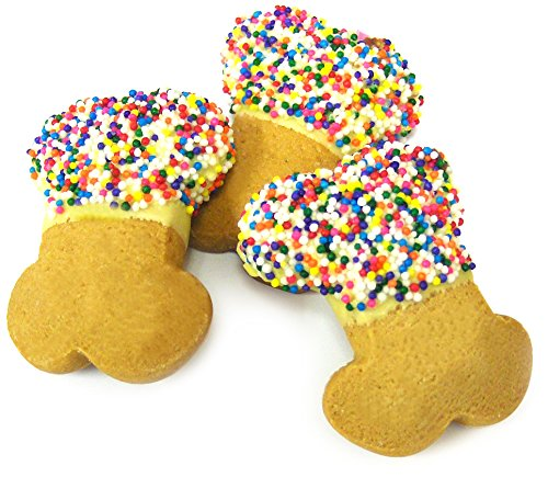 Claudia's Canine Cuisine 24-Piece Boutique Bakery Canine Party Bones Dog Cookies with Sprinkles (Cookies Dipped Gourmet)