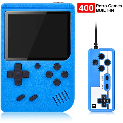 Gamory Handheld Games, Retro Mini Game Player with 400 Classical Games, Support Two Players & Playing on TV, 800mAh Rechargeable Battery, Present for Kids And Adults