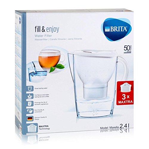 Brita Marella Cool Starter Pack Includes 3 Cartridges, White