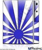 Sony PS3 Skin - Rising Sun Japanese Blue