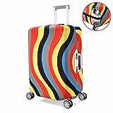 Baisidai Washable Colorful Print Luggage Cover Spandex Suitcase Cove Protective Bag