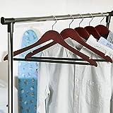 Honey-Can-Do No Slip Wooden Coat Hangers, Cherry