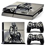 Ps4 Playstation 4 Console Skin Decal Sticker Fallout 4 + 2 Controller Skins Set