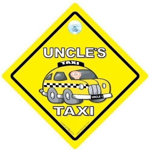 Bumper Aufkleber Uncle Taxi Baby Auto Schild Aufkleber Uncle Taxi Schild Uncle S Taxi Taxi Auto Schild Baby on Board Baby on Board Onkel s Taxi Baby Onkel s Taxi KFZ-Hinweisschild