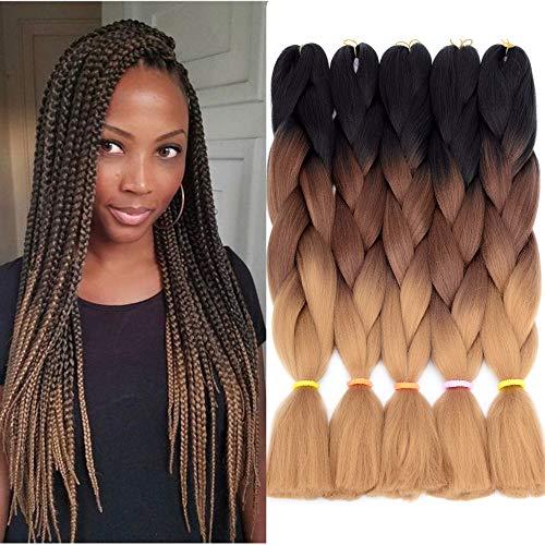 - VCKOVCKO Jumbo Braiding Hair Synthetic Kanekalon Jumbo Braids Hair Extensions Kanekalon Fiber Braiding Hair for Twist 24