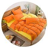 Side Bedding Set Super King Duvet Cover Set Dark Blue +Beige 4pcs Bedclothes Adult Bed Set Man Duvet Flat Sheet 230X250cm,T,Queen