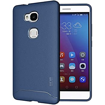 Huawei Honor 5X Case - TUDIA Full-Matte ARCH TPU Bumper Protective Case for Huawei Honor 5X (Blue)