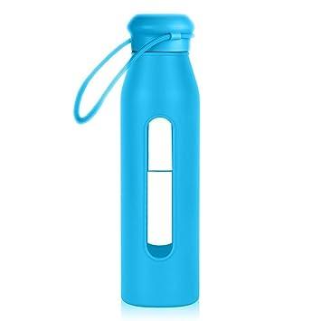 GO botella de cristal | innovador Eco-friendly 17 onzas botella de agua de vidrio