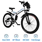 Bestlucky 26'' Electric Bike with Removable 36V 8Ah Lithium-Ion Battery, Electric Mountain Bike for...