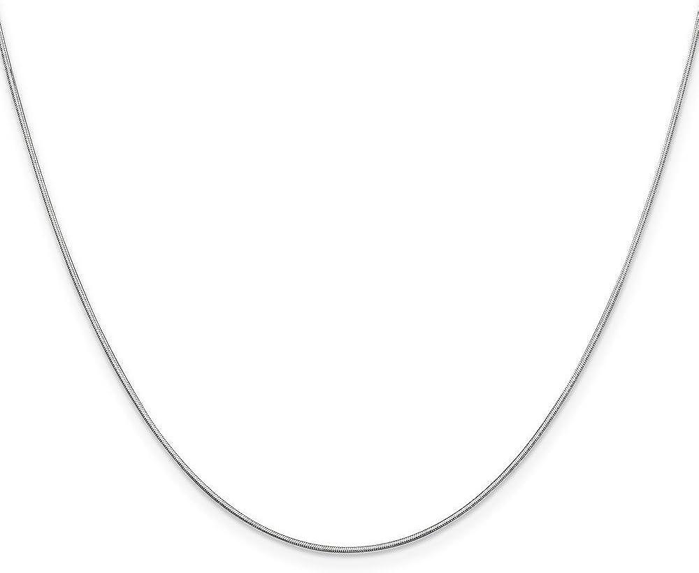 Mia Diamonds 14k WG .80mm Octagonal Snake Chain Necklace