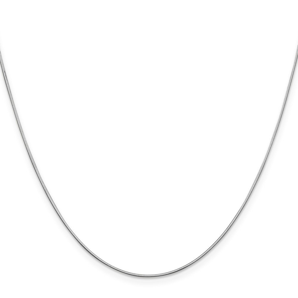 14K White Neckalce 0.8MM 30 INCH Long 14k White Gold .80mm Octagonal Snake Chain