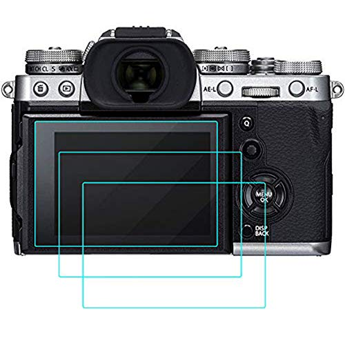 QIBOX Screen Protector Compatible with Fujifilm X-T3, 3-Pack Tempered Glass Screen Protection LCD Guard Compatible with Fuji XT3 x-t3 Mirrorless Digital Camera, Full Coverage/Edge to Edge