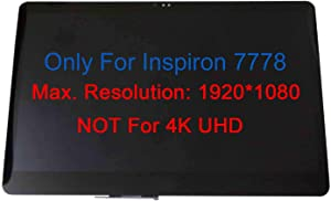 Kreplacement Touch Screen Replacement Assembly Glass with LCD Display for 17.3