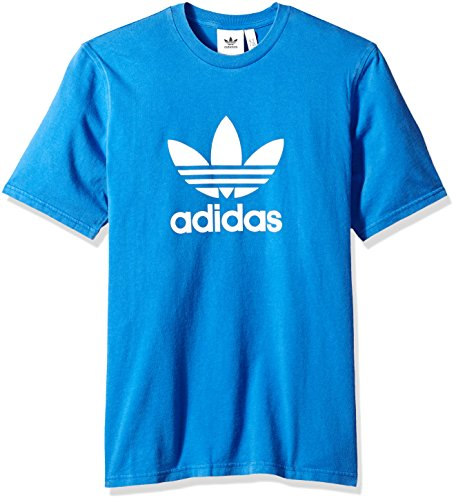 Adidas Short Sleeve Tee - Adidas Men's Trefoil Tee, Blue, 2XL