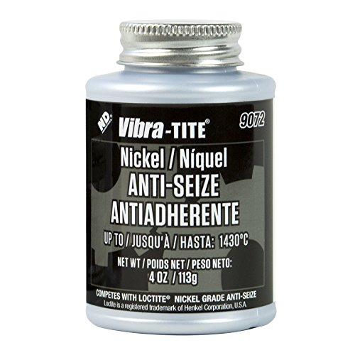 Vibra-TITE 9072 Nickel Anti-Seize Lubricant Compound, 4 oz Jar with Brush by Vibra-TITE