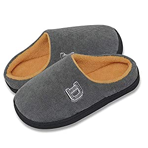 Cozy Memory Foam Slippers Men & Women Anti Slip Rubber Sole Plush House Breathable Shoes Indoor/Outdoor