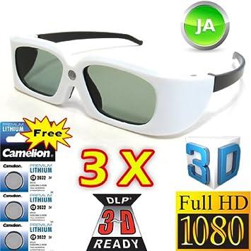 2fabb7c51f 3 pièces lunettes 3D DLP Link de Vidimensio