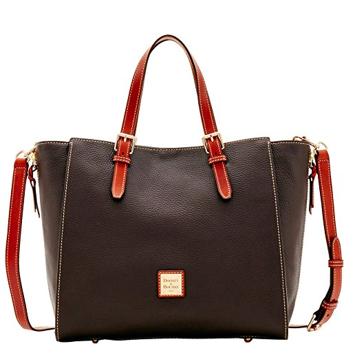 Dooney & Bourke Pebble Grain Large Mindy Bag (Chocolate) by Dooney & Bourke