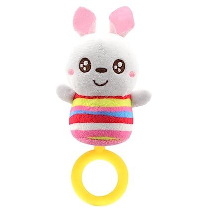 TrifyCore Multifuncional Peluches Molar Bite Pegamento Entrada Bebé Cama Colgante (Conejo)