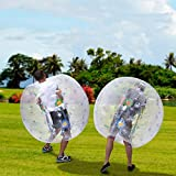Inflatable Bubble Ball, 1.2M 4FT Diameter Bumper Soccer Ball as Blow up Toy for Children, Teens, Adults (US STOCK) (White)