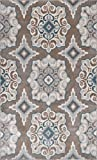 Home Dynamix Tremont Salem Area Rug 7'10″x10'5″, Medallion Taupe/Blue