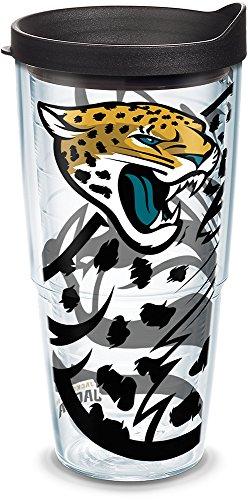 Tervis 1290920 NFL Jacksonville Jaguars Tumbler, 24 oz, - Jaguars Travel Tumbler Jacksonville