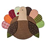 DII Polyester Placemat, Set of 4, Embroidered Turkey - Perfect for Fall, Thanksgiving, Friendsgiving and Dinner Parties