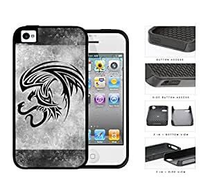 Eagle And Snake Aztec Grunge 2-Piece Dual Layer High Impact Rubber Silicone Cell Phone Case Apple iPhone 4 4s