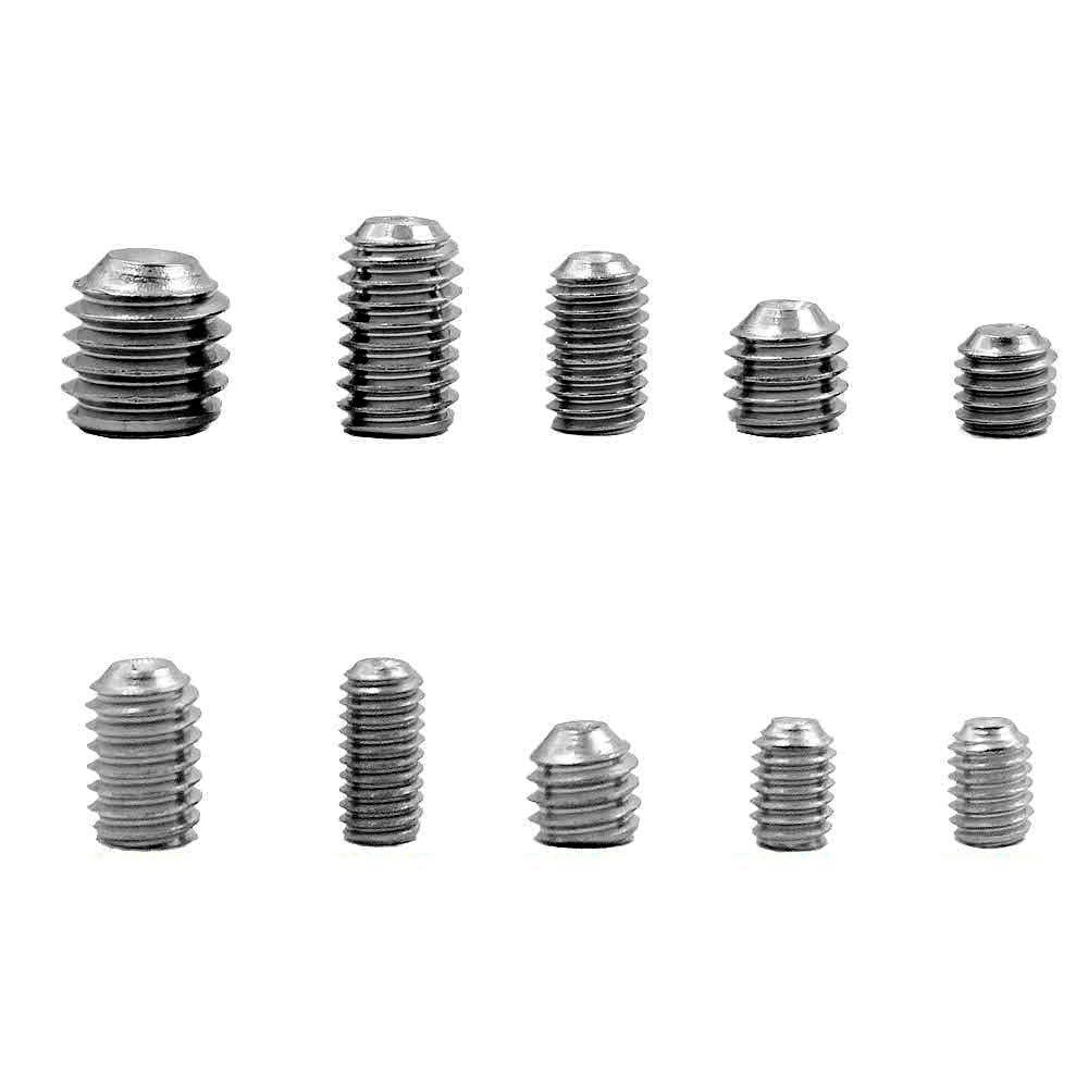 Mcbazel DIN916 Stainless Steel M3 M4 M5 M6 M8 Allen Head Socket Hex Grub Screw Kit 200 pcs