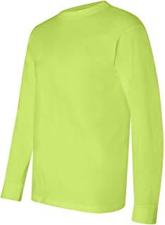 product image for Long Sleeve T-shirt, Color: Lime Green, Size: Medium