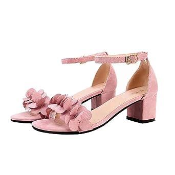Sandalen Damen Kolylong® Frauen Absatz Elegant Blumen Sandalen mit Absatz Frauen dd3ece