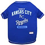 MLB KANSAS CITY ROYALS Dog T-Shirt, Medium. - Licensed Shirt for Pets Team Colored with Team Logos