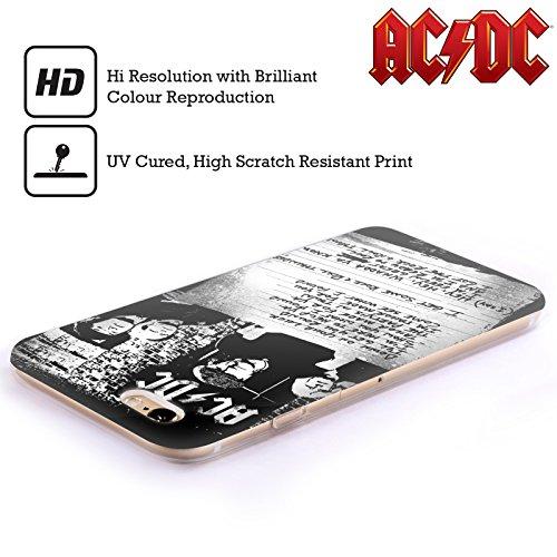 Officiel AC/DC ACDC A Obtenu Un Certain Tonnerre De Rock 'n' Roll Paroles Étui Coque en Gel molle pour Apple iPhone 5c