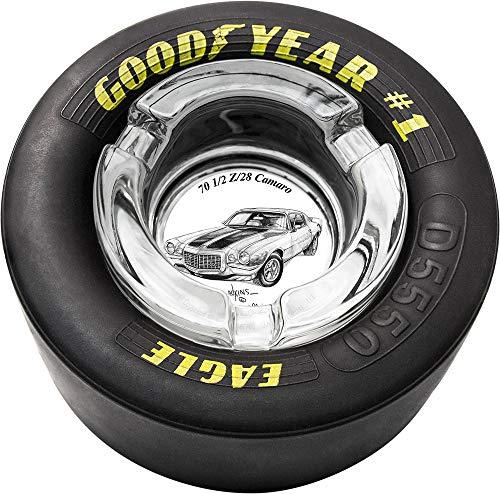 (Dale Adkins Art Classic Car Tire Ashtray (1970 1/2 Z/28 Camaro -)