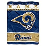 rams football - The Northwest Company Officially Licensed NFL St. Louis Rams 12th Man Plush Raschel Throw Blanket, 60