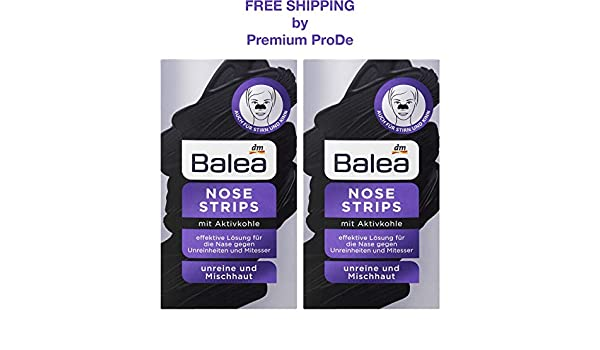Amazon com: Balea Skin Nose Strips with Activated Charcoal