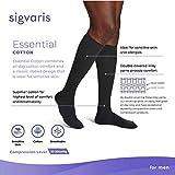 SIGVARIS Men's Essential Cotton 230 Closed Toe