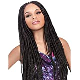 Brazilian braids synthetic lace front braided wig handmade collection for black women 24""